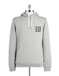 Wesc College Knit Stitched Hoodie Silver