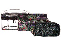 Vera Bradley Travel Cosmetic Set Kiev Paisley Cosmetic Case Multi