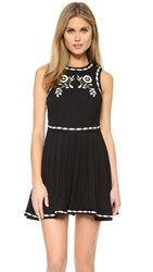 Free People Birds Of A Feather Mini Dress Black