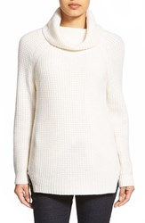 Women's Nordstrom Collection Wool And Cashmere Turtleneck Sweater Ivory Soft