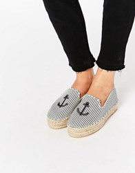 Pull And Bear Pullandbear Sailor Espadrille Blue