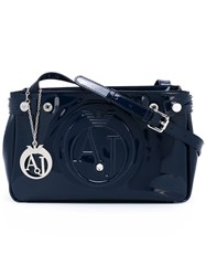Armani Jeans Zip Up Cross Body Bag Blue