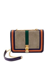Brian Atwood Mason Lambskin Crossbody Bag Grey Multi