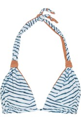 Vix Swimwear Dune Printed Bikini Top Light Blue