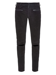 Undercover Brushed Leather Skinny Fit Trousers