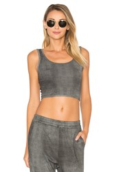 Indah Cookie Cropped Tank Gray