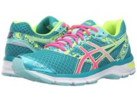 Asics Gel Excite 4 Lapis Hot Pink Safety Yellow Women's Running Shoes Blue