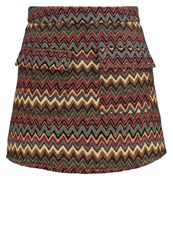 First And I Figarda Mini Skirt Rooibos Tea Multicolor Red