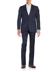 Calvin Klein Two Piece Jacket And Pants Suit Set Navy