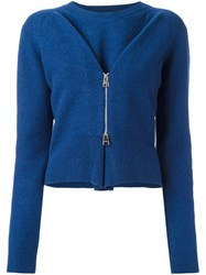 J.W.Anderson Boiled Twisted Zipped Jumper Blue
