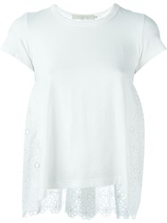 L'autre Chose Anglaise Broderie Top White
