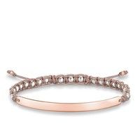 Thomas Sabo Love Bridge Rose Macrame Bracelet Beige
