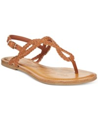 American Rag Keira Braided Flat Sandals Only At Macy's Women's Shoes Cognac