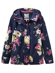 Joules Right As Rain Coast Waterproof Printed Jacket French Navy Floral