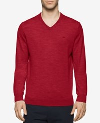 Calvin Klein Men's Merino V Neck Sweater Mania