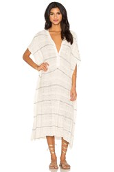 Free People Whispering Wind Poncho Dress White