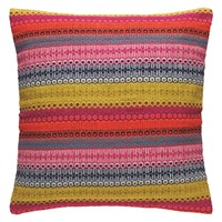 Habitat Agnes Bright Stripe Cushion 60 X 60Cm Multi Coloured