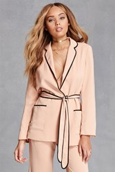 Forever 21 Contrast Piped Blazer