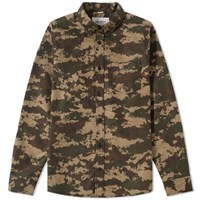 Carhartt Camo Painted Shirt Green