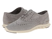 Cole Haan Zerogrand Wing Oxford Ironstone Suede Women's Shoes Black