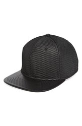 Gents Men's 'Hannon' Mesh Snapback Cap Metallic Silver Black
