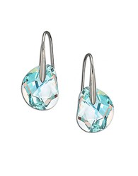 Swarovski Galet Pierced Earrings Silver Crystal