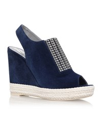 Gina Lua Crystal Wedge Female Royal
