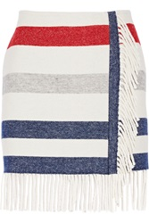 Paul And Joe Titane Striped Wool Blend Mini Skirt