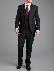 Paul Costelloe Plain Black Slimfit Trousers