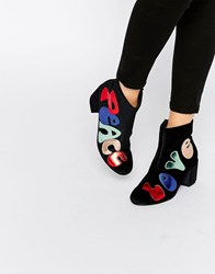 Asos Ringo Peace And Love Boots Multi