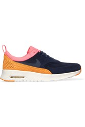 Nike Air Max Thea Suede And Leather Sneakers Navy