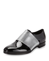 Jimmy Choo Peter Formal Patent Leather Shoe With Metallic Band Black