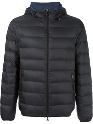 Armani Jeans Hooded Padded Jacket Black