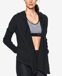 Under Armour Open Front Hooded Terry Cardigan Black