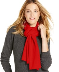 Charter Club Jersey Knit Cashmere Muffler Only At Macy's Tomato