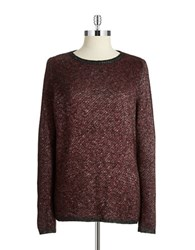Kenneth Cole Split Back Sweater Chili