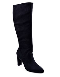 Adrienne Vittadini Nanni Suede Point Toe Boots Black