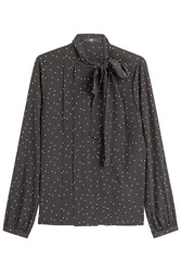 Steffen Schraut The Bow Avenue Printed Silk Blouse Dots