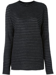 Marc Jacobs Striped Knit Top Black