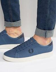 Fred Perry Spencer Canvas Trainers Blue