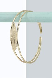 Boohoo Leaf Arm Cuff Gold