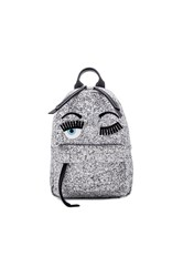 Chiara Ferragni Flirting Backpack Metallic Silver
