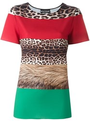 Boutique Moschino Multi Print T Shirt Red