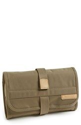 Men's Briggs And Riley 'Baseline' Compact Trifold Toiletry Kit Olive