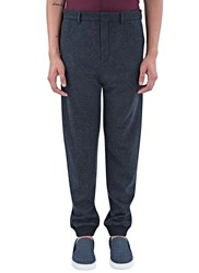 Lanvin Seamless Wool Track Pants Grey