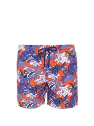 Vilebrequin Moorea Forest Paradise Print Swim Shorts Orange Multi