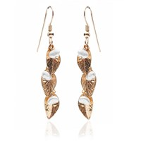 Harry Rocks Delilah Leaf Earrings Gold And Pearl