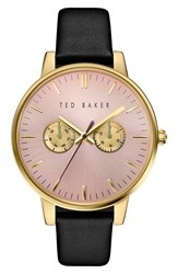 Ted Baker Women's London 'Dress Sport' Multifunction Leather Strap Watch 40Mm