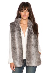 Heartloom Freya Faux Fur Vest Gray