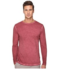 Publish Divo Premium Oil Washed Long Sleeve Knit Maroon Men's Clothing Red